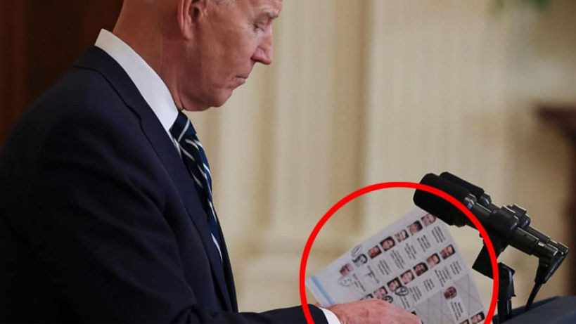 no-wonder-it-took-so-long-for-bidens-first-press-conference-aides-needed-time-to-make-cheat-sheets